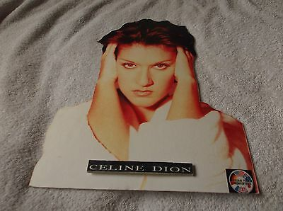 """Celine Dion """"Dutch PROMOTIONAL CARDBOARD CUTOUT DISPLAY STAND"""" - Look!"""