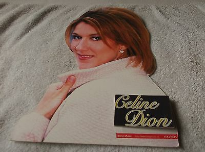 """Celine Dion """"SONY / COLUMBIA PROMO CARDBOARD CUTOUT DISPLAY STAND"""" - Look!"""