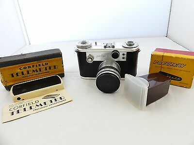 Corfield Periflex 2 35Mm Film Rangefinder Camera Kit Lumax Lens. As-Is