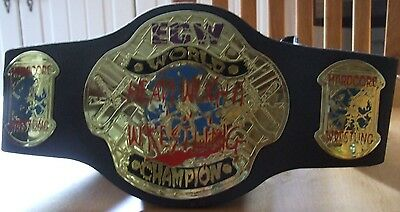 Ecw World Heavyweight Wrestling Champion Hardcore Belt Jakks 2007  Wwf