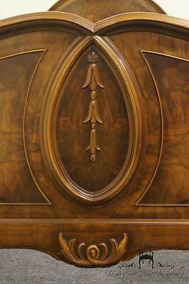 1920's Ornate Walnut Louis XVI French Style Twin Bed