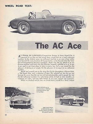 10 LOT Vintage AC Cars, Many Ace, Multiple-Page Most UK Issue Magazine Articles