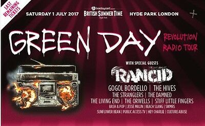 2 Green Day tickets for BST London 1st July Hyde Park (e-tickets ready to email)