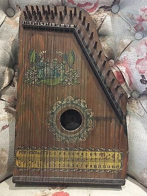 Antique Piano Harp Zither