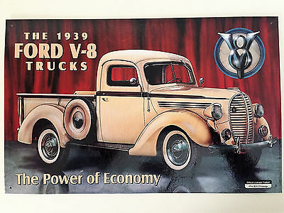 Metal Sign 1939 Ford V-8 Truck NEW