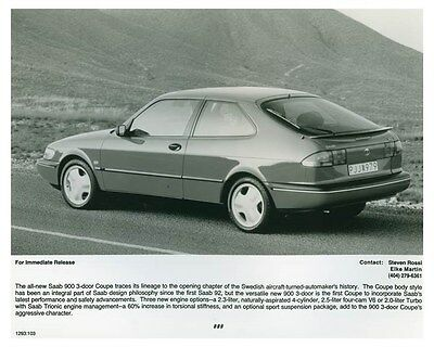 1995 Saab 900 3 Door Coupe Automobile Factory Photo ch4672
