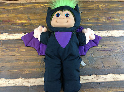 "Vintage 12"" Russ Troll Bat Doll Green Hair Very Nice Collectible"
