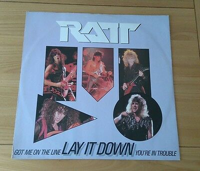 "Ratt Lay It Down 1985 UK 12"" Single A1 B1 Picture Sleeve Heavy Metal Hard Rock"