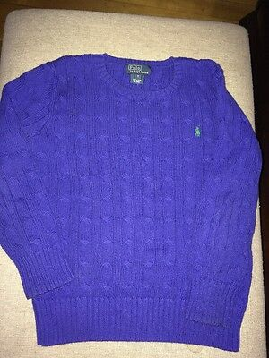 Polo Ralph Lauren Boys Size 7 Cable Knit Sweater