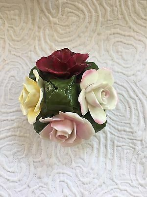 Aynsley Fine Bone China Hand Modelled/Painted Flower Bouquet in Pot ~ England