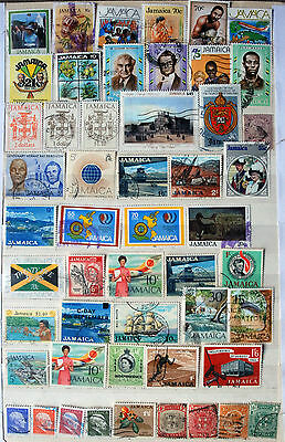 Great Collection of Different Used Jamaican Stamps.