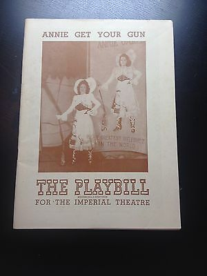 1946 PLAYBILL - ANNIE GET YOUR GUN - The Imperial Theatre