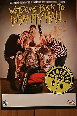 demented are go, poster, A2, psychobilly