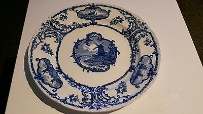 Delftland blue and white plate