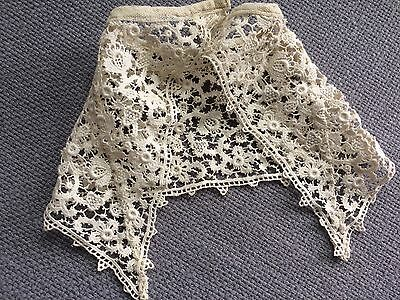 Antique Lace Chemical French Dolls Cape Hats Trim Gothic Victorian Edwardian Art
