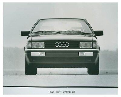 1986 Audi Coupe GT Automobile Factory Photo ch4702
