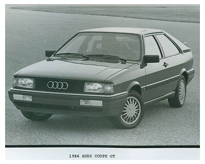 1986 Audi Coupe GT Automobile Factory Photo ch4701