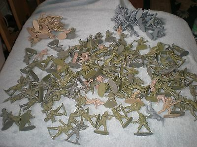Vintage Airfix Plastic Toy Soldiers Assorted Job Lot 1/32