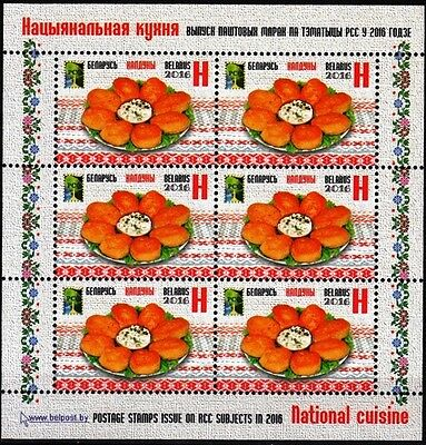 BELARUS 2016-01 RCC: National Cuisine / Culinary. Joint Issue. MINI-SHEET, MNH