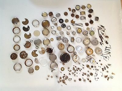 Job Lot Antique Pocket Watch, Watch, Parts - springs, hands, cogs, faces & more