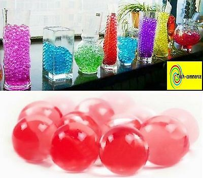 perle d'eau cristal bille de gel art floral table 550 à 600 billes/sachet ROUGE