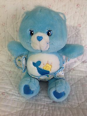 "Care Bears  Baby Tugs  Blue Bear 10"" Nappy Bear Soft Weighted 2004"