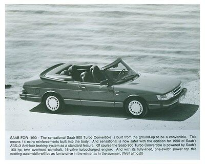 1990 Saab 900 Turbo Convertible Automobile Factory Photo ch4960