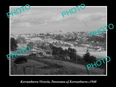 Old Large Historic Photo Of Korrumburra Victoria, Panorama Of The Town 1940