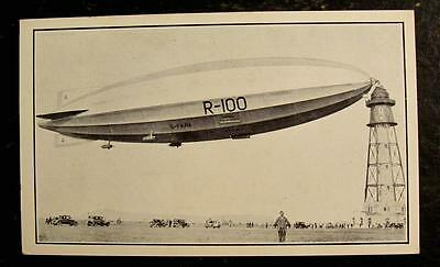 1930 Postcard- Zeppelin Anchored To Mast-St. Hubert Airport, Montreal, Canada