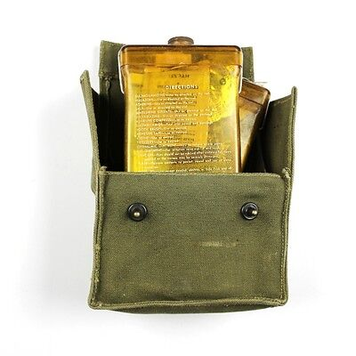 Original Wwii Usaaf Evasion / Sustenance Kit Type E-17 W/ Content Pouch Flask