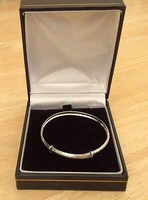 BABY CHRISTENING BRACELET / Bangle 925 Sterling SILVER in a Box