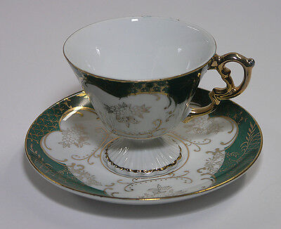 Lefton China Hand Painted & Signed Tea Cup & Saucer Reg. U.S. Pat. 2684
