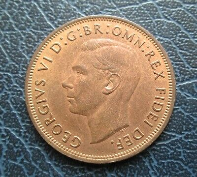 1949 George VI One Penny - High Grade, full lustre