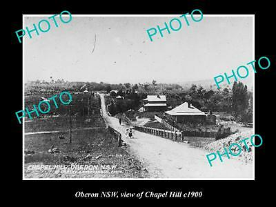 OLD LARGE HISTORIC PHOTO OF OBERON NSW, VIEW OF CHAPEL HILL c1900