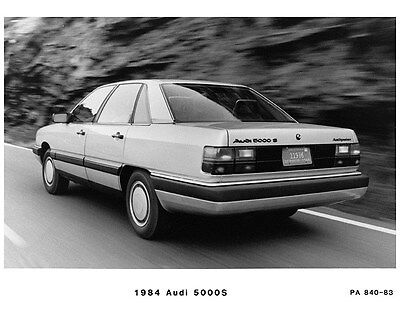 1984 Audi 5000S Factory Photo ca7241