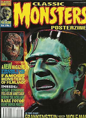Famous Monsters Classic Posterzine #1 Frankenstein Meets The Wolf Man Ex Cond