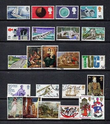GB 1967 Chichester  to 1968 Christmas commemorative sets complete MNH