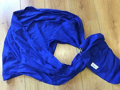 Blue bebemooi Baby Carrier / Wrap / Sling With Ring with pocket good con