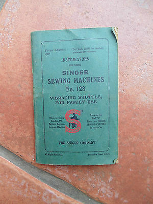Original SINGER sewing machine instruction manual book number 28 Vintage