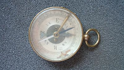 Vintage Brass Compass, Ww2 Era, Made  In France