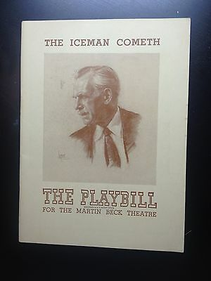 1946 PLAYBILL - THE ICEMAN COMETH - The Martin Beck Theatre