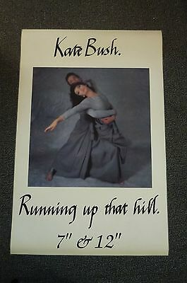 "RARE Vintage 80s Kate Bush Running Up That Hill HUGE Promo Poster 39"" x 59"""