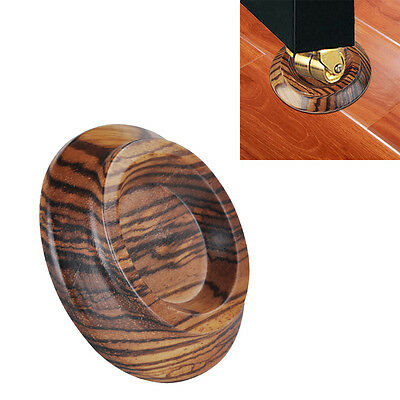 Double Round Upright Piano Caster Cups Zebra Wood Pattern EVA Anti-slip Mat