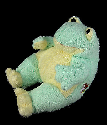 BABY TY Pluffies Frogbaby Green Yellow Frog Stuffed Animal Plush Rattle Baby Toy