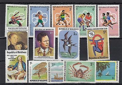 Maldives. 11 --1976/8 Unmounted Mint Stamps On Stockcard
