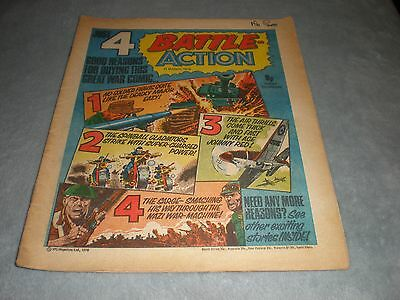 Vintage Battle Action Comic Book - 11 March 1978 Birthday Idea