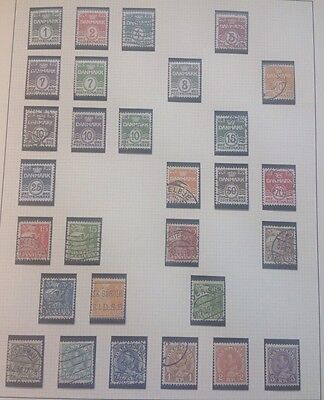 Denmark stamps page Used