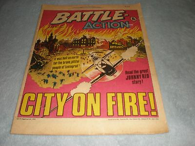 Vintage Battle Action Comic Book - 4 February 1978 Birthday Idea