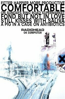 RADIOHEAD ~ OK COMPUTER ~ 24x36 MUSIC POSTER ~ NEW/ROLLED!