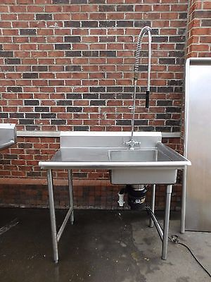 Used Stainless Steel Commercial Sink w Garbage Disposal